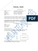 Define Fiscal Year Variant