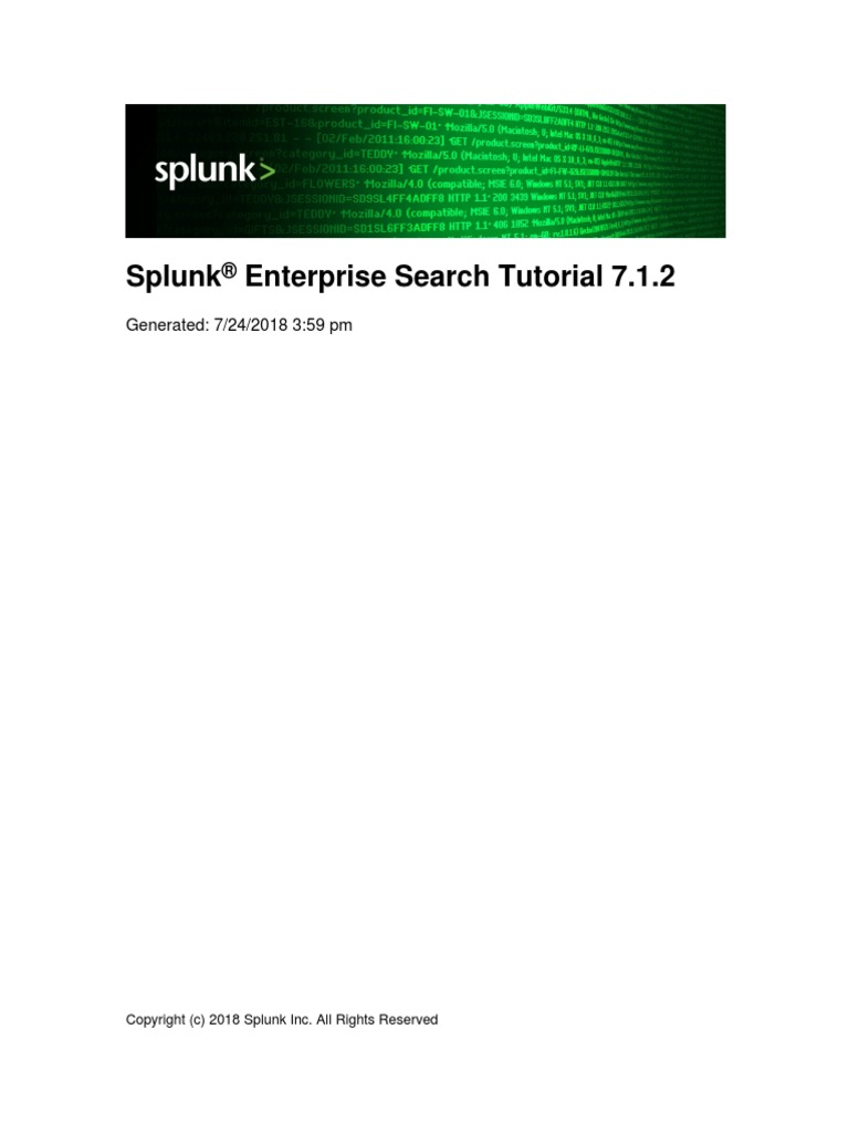 Splunk 7 1 2 SearchTutorial | Command Line Interface | Installation