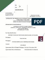 Affidavit of Mortgage Satisfaction Due to Fraud