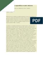 Cláudio Duarte - o Ponto Aporético e Sem Retorno
