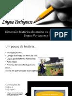 Dimensão Histórica Do Ensino de Língua Portuguesa