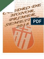 Cuadro de Honor Primer Semestre 2018