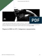 Conheça as Principais Regras Do MMA No UFC