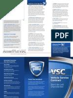 Vehicle Service Contract Brochure