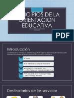 Principios de La Orientacion Educativa