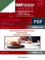 Procedimiento Administrativo Sancionador - Principios