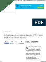 5 Dicas Para Fazer o Sinal Da Rede WiFi Chegar a Todos Os Cantos Da Casa - TecMundo