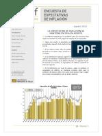 LA EXPECTATIVA DE INFLACIÓN SE MANTIENE EN 30% EN AGOSTO