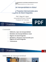 01 Diego López - Principios de Interoperabilidad & Estándares Proyectos Internacionales