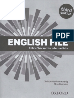 English file third edition. Entry checker.pdf