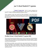 Prediksi Girona vs Real Madrid 27 Agustus 2018