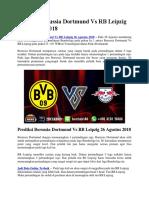 Prediksi Borussia Dortmund vs RB Leipzig 8 Mei 2018