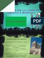 Aportes de La Ciencia Griega y Romana