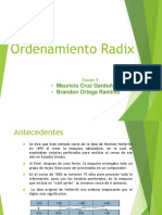 Ordenamiento Radix