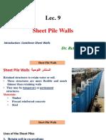 Lec 9 Sheet Pile
