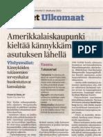 Amerikkalaiskaupunki kieltää kännykkamastot asutuksen lähellä Aamulehti 3-10-2010