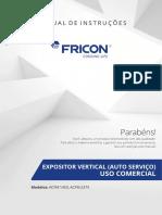 Expositor Refrigerado Fricon Porta de Vidro 1450l 220v Acf