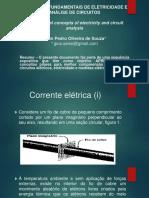 Conceitos Fundamentais de Eletricidade e Análise de Circuitos - Corrente