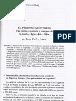 impgnacion proceso monitorio
