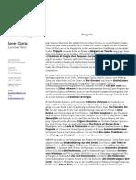 Jorge Garza, Lyrischer Tenor - Biografie Und Lebenslauf  2010