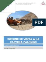 Informe de Visita a La Cantera Palomino s