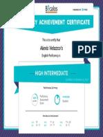 Becalos Proficiency Certificate