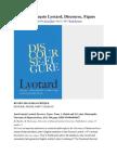 On Lyotard Discorse Figure - Freudian Themes