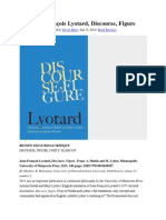 On Lyotard Discorse Figure - Freudian Themes