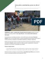 20-08-2018- Gobernadora Pide a Estudiantes Poner en Alto El Nombre de Sonora- Expreso