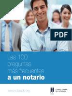 100 Preguntas Frecuentes a Notarios