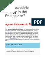 Hydroelectric Energy (1)