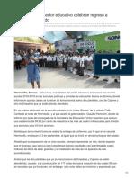 20-08-2018-Autoridades Del Sector Educativo Celebran Regreso a Clases en El Estado- Tribuna