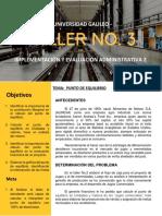 Taller 3, implementación y evaluación administrativa 2