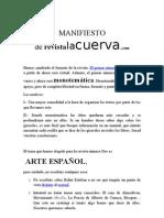 MANIFIESTO Revista La cuerva