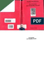 Da Divisão Social Do Trabalho - Emile Durkheim