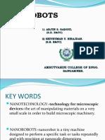 Paper Presentation on Nano Robots Under Nanotechnology