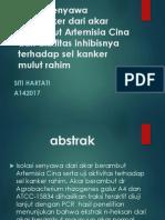 Farmakoterapi Isolasi Senyawa Antikanker Dari Akar Berambut Artemisia Cina