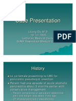 Pancreas Pseudo Cyst