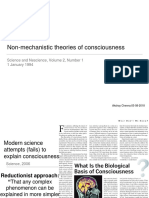 Non Mechanistic Theories of Consciousness