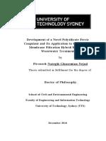 Development of a Novel Polysilicate Ferric Coagulant2whole