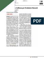 Tour tra arte e bellezza per il ministro Bussetti - Il Corriere Adriatico del 21 agosto 2018