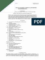 Analysis of Multi-element Torque Converter