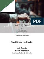 Sourcing Hacks