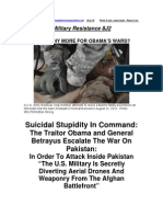 Military Resistance 8J2 Suicidal Stupidity in Command