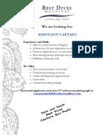 Job Advertisement CRF Asst Captain (3)