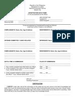 DOJ Investigation Data Form