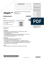 AQA Unit 1 Statsandnumber Higher Question NOV13
