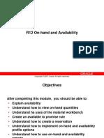 INV Onhand Availability