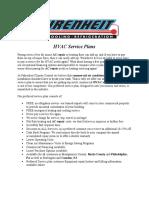 Hvac Service Plan
