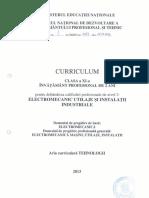 Curriculum Clasa a XI-A Invatamant Profesional de 2 Ani_Elmec Mas Ut Inst